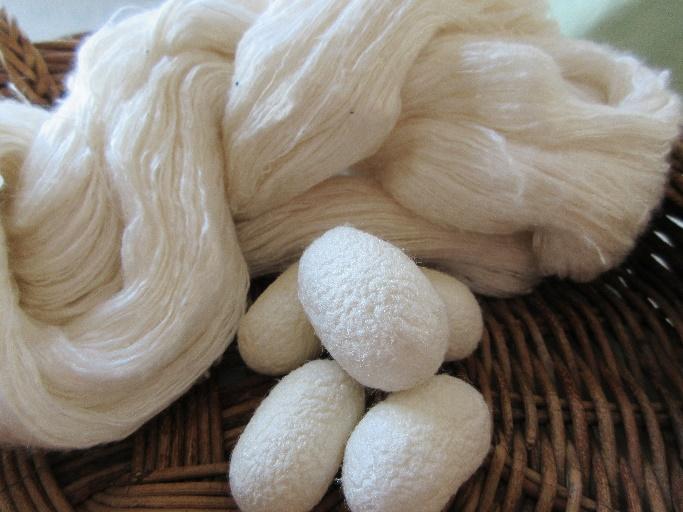 繭玉と絹糸